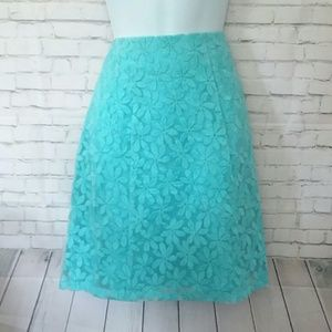 *NWT!* NY&COMPANY teal lace floral skirt
